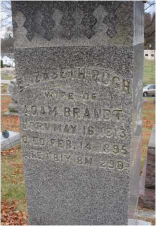 RUGH BRANDT, ELLIZABETH - Fairfield County, Ohio | ELLIZABETH RUGH BRANDT - Ohio Gravestone Photos