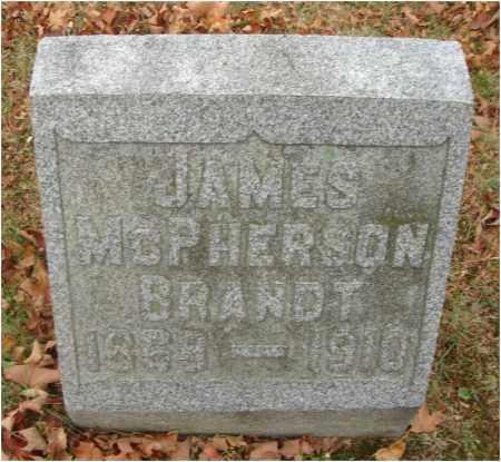 BRANDT, JAMES MCPHERSON - Fairfield County, Ohio | JAMES MCPHERSON BRANDT - Ohio Gravestone Photos