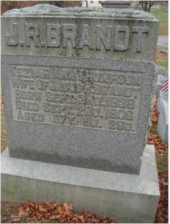 THOMPSON BRANDT, KEZIAH ANN - Fairfield County, Ohio   KEZIAH ANN THOMPSON BRANDT - Ohio Gravestone Photos