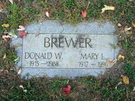 BREWER, MARY L. - Fairfield County, Ohio   MARY L. BREWER - Ohio Gravestone Photos