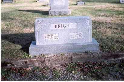 BRIGHT, ADAH E. - Fairfield County, Ohio | ADAH E. BRIGHT - Ohio Gravestone Photos