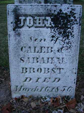 BROBST, JOHN - Fairfield County, Ohio | JOHN BROBST - Ohio Gravestone Photos