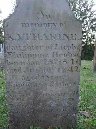 BROBST, KATHARINE - Fairfield County, Ohio | KATHARINE BROBST - Ohio Gravestone Photos