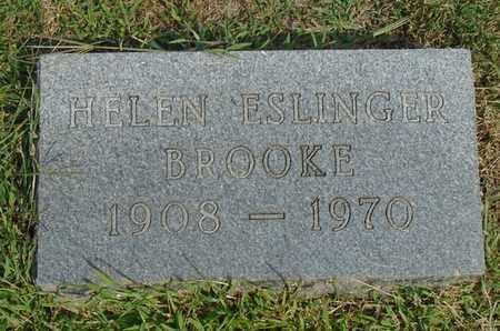 ESLINGER BROOKE, HELEN - Fairfield County, Ohio   HELEN ESLINGER BROOKE - Ohio Gravestone Photos