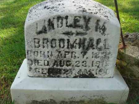 BROOMHALL, LANDLEY M. - Fairfield County, Ohio | LANDLEY M. BROOMHALL - Ohio Gravestone Photos