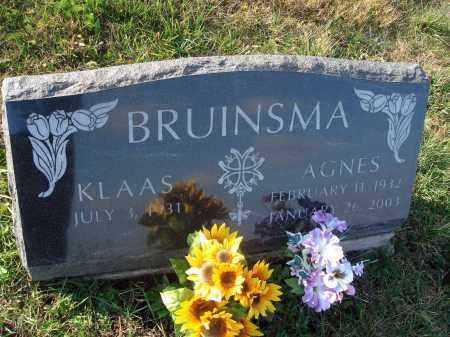 BRUINSMA, AGNES - Fairfield County, Ohio | AGNES BRUINSMA - Ohio Gravestone Photos