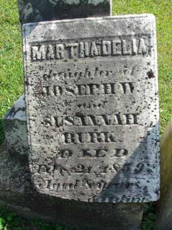 BURK, MARTHA DELIA - Fairfield County, Ohio | MARTHA DELIA BURK - Ohio Gravestone Photos