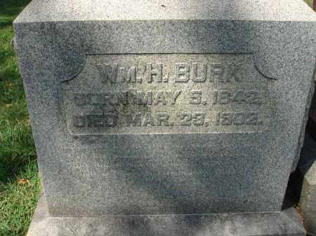 BURK, WM. H. - Fairfield County, Ohio   WM. H. BURK - Ohio Gravestone Photos