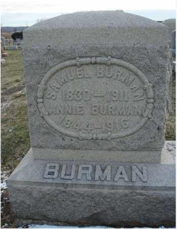 BURMAN, SAMUEL - Fairfield County, Ohio | SAMUEL BURMAN - Ohio Gravestone Photos