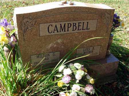 CAMPBELL, MILTON G. - Fairfield County, Ohio | MILTON G. CAMPBELL - Ohio Gravestone Photos
