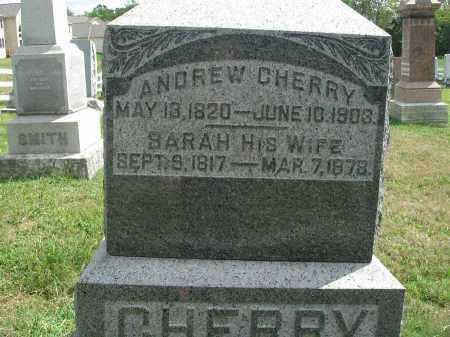 CHERRY, ANDREW - Fairfield County, Ohio   ANDREW CHERRY - Ohio Gravestone Photos
