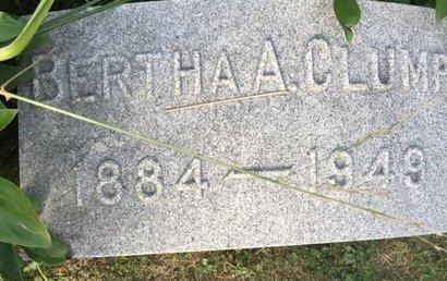 CLUMP, BERTHA A. - Fairfield County, Ohio | BERTHA A. CLUMP - Ohio Gravestone Photos