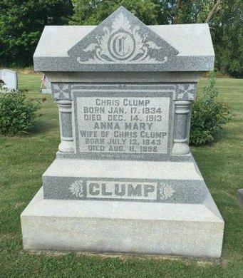 CLUMP, ANNA MARY - Fairfield County, Ohio | ANNA MARY CLUMP - Ohio Gravestone Photos