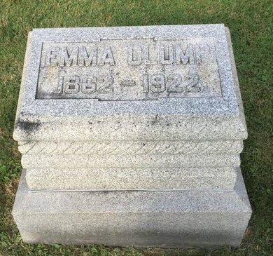 CLUMP, EMMA - Fairfield County, Ohio   EMMA CLUMP - Ohio Gravestone Photos