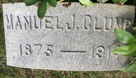 CLUMP, MANUEL J. - Fairfield County, Ohio | MANUEL J. CLUMP - Ohio Gravestone Photos