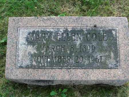 COLE, MARY ELLEN - Fairfield County, Ohio | MARY ELLEN COLE - Ohio Gravestone Photos