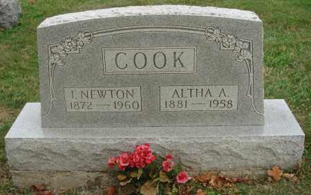 COOK, I. NEWTON - Fairfield County, Ohio   I. NEWTON COOK - Ohio Gravestone Photos