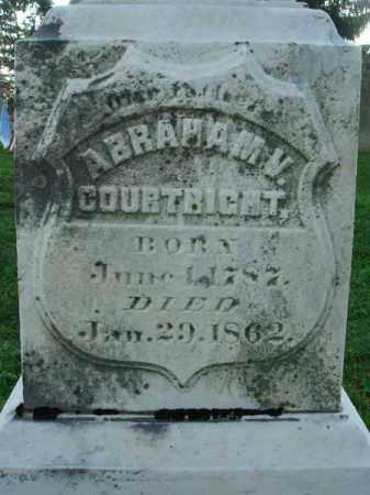 COURTRIGHT, ABRAHAM V. - Fairfield County, Ohio | ABRAHAM V. COURTRIGHT - Ohio Gravestone Photos