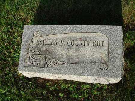 COURTRIGHT, ESTELLA V. - Fairfield County, Ohio | ESTELLA V. COURTRIGHT - Ohio Gravestone Photos