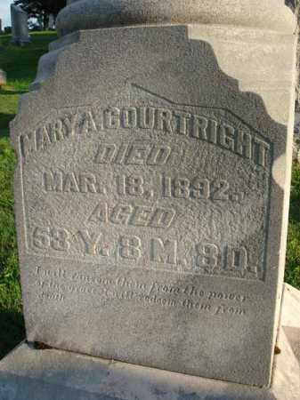 COURTRIGHT, MARY A. - Fairfield County, Ohio | MARY A. COURTRIGHT - Ohio Gravestone Photos
