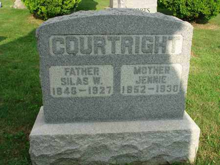 COURTRIGHT, SILAS W. - Fairfield County, Ohio | SILAS W. COURTRIGHT - Ohio Gravestone Photos