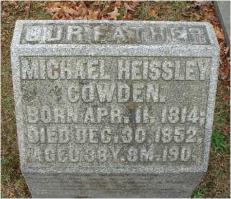 COWDEN, MICHAEL HEISSLEY - Fairfield County, Ohio | MICHAEL HEISSLEY COWDEN - Ohio Gravestone Photos