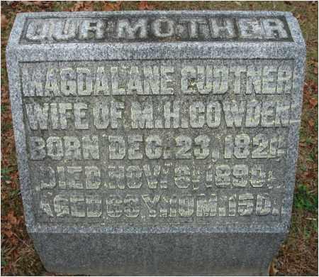 GUDTNER COWDEN, MAGDALANE - Fairfield County, Ohio   MAGDALANE GUDTNER COWDEN - Ohio Gravestone Photos