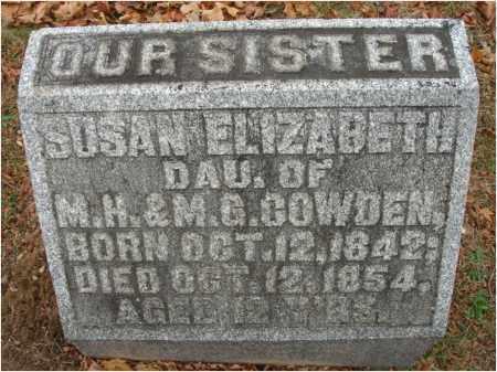 COWDEN, SUSAN ELIZABETH - Fairfield County, Ohio | SUSAN ELIZABETH COWDEN - Ohio Gravestone Photos