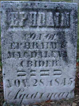 CRIDER, EPHRAIM - Fairfield County, Ohio   EPHRAIM CRIDER - Ohio Gravestone Photos