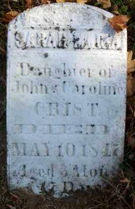 CRIST, SARAH MARIA - Fairfield County, Ohio | SARAH MARIA CRIST - Ohio Gravestone Photos