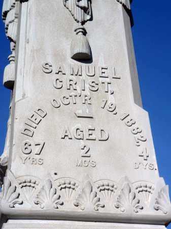 CRIST, SAMUEL - Fairfield County, Ohio | SAMUEL CRIST - Ohio Gravestone Photos