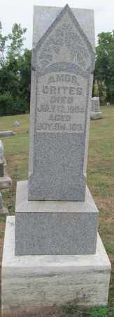 CRITES, AMOS - Fairfield County, Ohio | AMOS CRITES - Ohio Gravestone Photos
