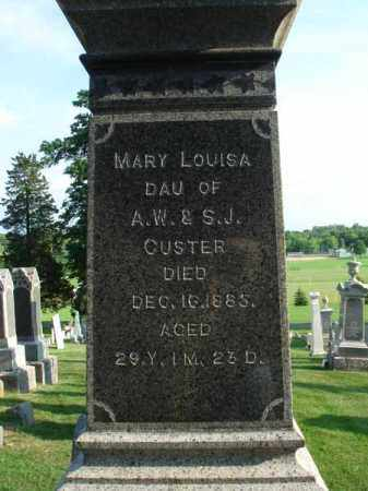 CUSTER, MARY LOUISA - Fairfield County, Ohio | MARY LOUISA CUSTER - Ohio Gravestone Photos
