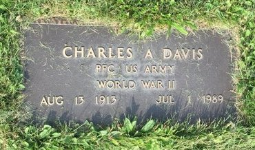 DAVIS, CHARLES A - Fairfield County, Ohio | CHARLES A DAVIS - Ohio Gravestone Photos