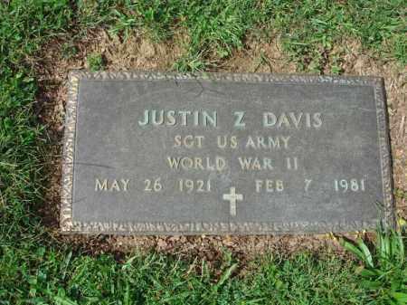 DAVIS, JUSTIN Z. - Fairfield County, Ohio   JUSTIN Z. DAVIS - Ohio Gravestone Photos