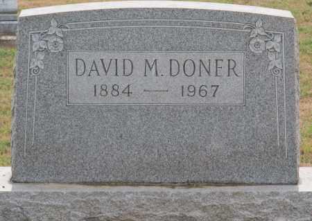 DONER, DAVID M - Fairfield County, Ohio | DAVID M DONER - Ohio Gravestone Photos