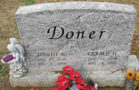 DONER, JUDITH A - Fairfield County, Ohio | JUDITH A DONER - Ohio Gravestone Photos