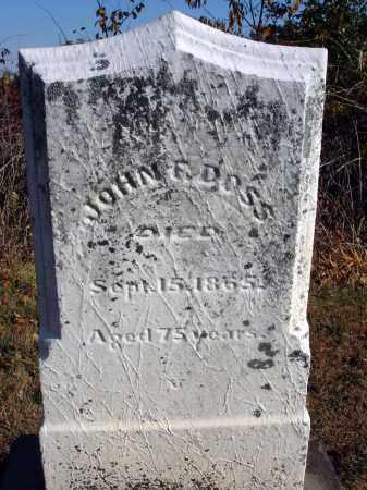 DOSS, JOHN F. - Fairfield County, Ohio | JOHN F. DOSS - Ohio Gravestone Photos