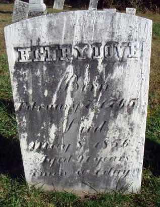 DOVE, HENRY - Fairfield County, Ohio | HENRY DOVE - Ohio Gravestone Photos