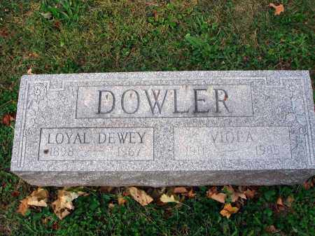 DOWLER, VIOLA - Fairfield County, Ohio | VIOLA DOWLER - Ohio Gravestone Photos