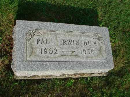 DUM, PAUL IRWIN - Fairfield County, Ohio   PAUL IRWIN DUM - Ohio Gravestone Photos