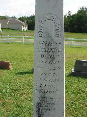 DUNLOP, ELIZABETH - Fairfield County, Ohio   ELIZABETH DUNLOP - Ohio Gravestone Photos