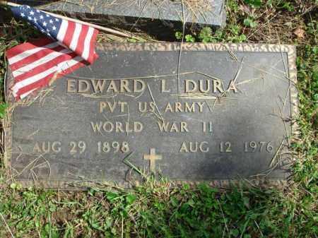 DURA, EDWARD L. - Fairfield County, Ohio   EDWARD L. DURA - Ohio Gravestone Photos