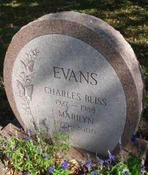 EVANS, CHARLES BLISS - Fairfield County, Ohio | CHARLES BLISS EVANS - Ohio Gravestone Photos