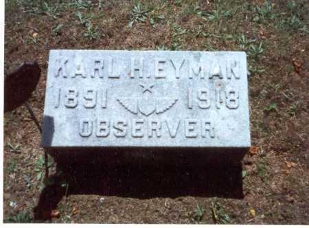 EYMAN, KARL - Fairfield County, Ohio | KARL EYMAN - Ohio Gravestone Photos