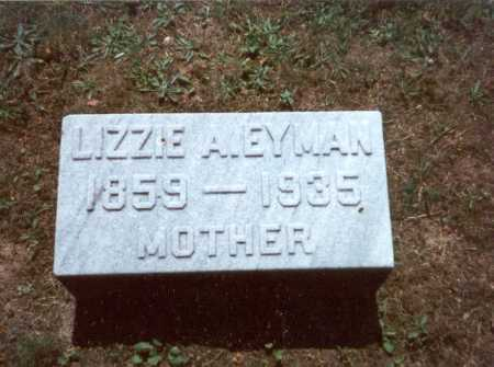 EYMAN, LIZZIE A. - Fairfield County, Ohio | LIZZIE A. EYMAN - Ohio Gravestone Photos