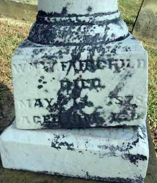 FAIRCHILD, WILLIAM V. - Fairfield County, Ohio   WILLIAM V. FAIRCHILD - Ohio Gravestone Photos