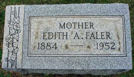 FALER, EDITH A. - Fairfield County, Ohio | EDITH A. FALER - Ohio Gravestone Photos