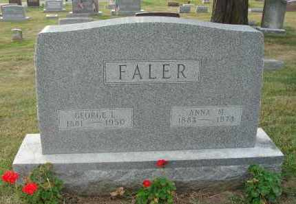 FALER, GEORGE LUTHER - Fairfield County, Ohio | GEORGE LUTHER FALER - Ohio Gravestone Photos
