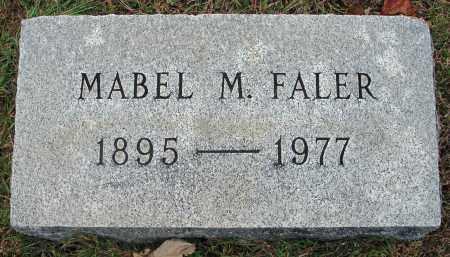 FALER, MABEL M. - Fairfield County, Ohio | MABEL M. FALER - Ohio Gravestone Photos